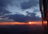 Coucher de soleil à Tête Rousse