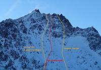 Topo voie Les Ricains Roux, Montagne des Agneaux